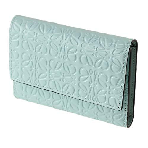 [ロエベLOEWE]レディース折り財布ミント系109.10GS974329