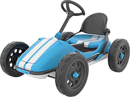 Scooter Kart Kart sin necesidad de herramientas y la parte posterior del asiento plegable de la rueda de dirección ajustable, sin necesidad de herramientas,Blue