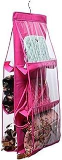 Pindia 6 Pocket Hanging Handbag Purse Bag Tidy Storage Organiser Wardrobe Closet Hanger