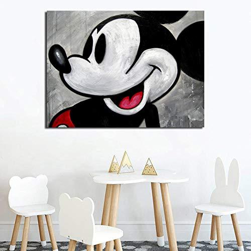 zszy Vintage Mickeies behang canvas schilderij druk woonkamer kinderkamer wooncultuur moderne muurkunst olieverfschilderij poster -50x70cmx1 stuk geen lijst