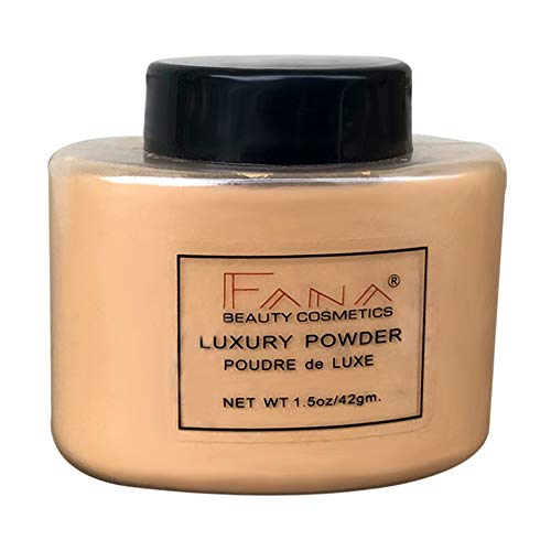 Ardorlove Banana Face Foundation Powder, Luxury Powder Face Loose Powder Oil-control Finishing Powder Makeup