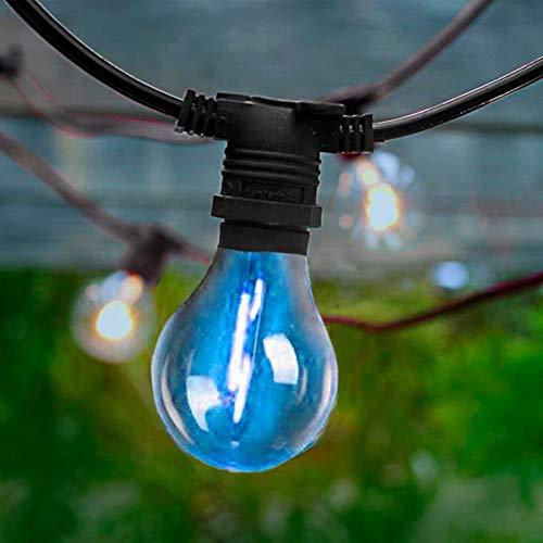 ALLEGRA-Guirnalda de luces para exteriores, 20 luces LED, 10 m, con mando a distancia, color negro