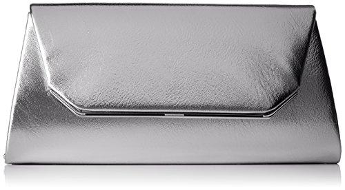 Tamaris Damen Grazia Clutch Bag, Silber (Silver), 5,5x11x24 cm