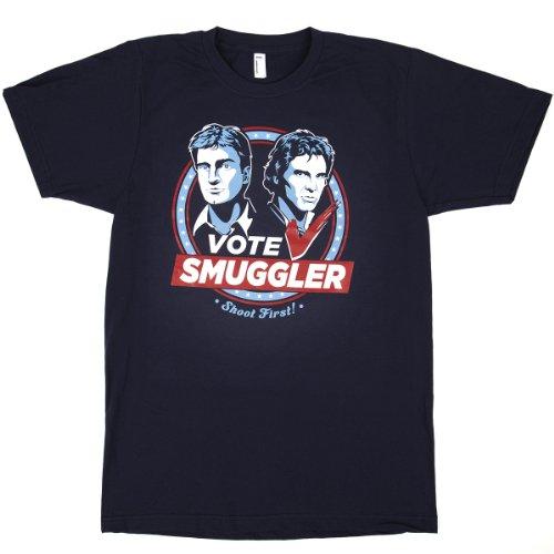 Ian Leino Design: 'Vote Smuggler' T-Shirt - Mens/Unisex Medium