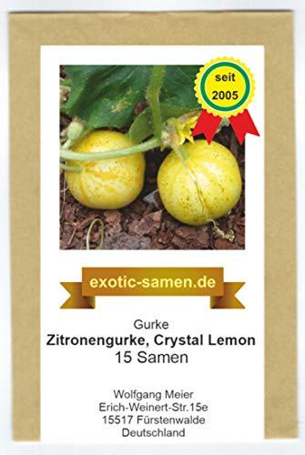 Gurke – Zitronengurke – Crystal Lemon - 15 Samen