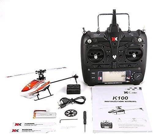 VCB XK K110 6CH 3D 6G System Mini Brushless RC Hubschrauber Drohne mit Gyro RTF - Orange