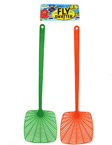 2-Pack Vented Plastic Fly Swatters (Pack Of 24)