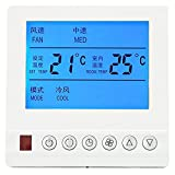 Termostato Inteligente AC220V Termostato Digital Con Pantalla LCD Grande Aire Acondicionado Central Programable Temperatura Del Agua Interruptor de Tres Velocidades Termosta