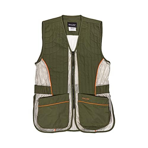 Allen Company Ace Range Unisex Shooting Vest with Moveable Shoulder Pad, Medium/Large, Olive/Tan (22611)