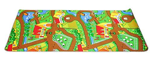 KL-Toys Spielteppich Duoplay / für kleine Spielzeugautos (Lieferung OHNE Autos) / 140 x 200 cm / Polyamid, Latexrücken / ab 3 Jahre