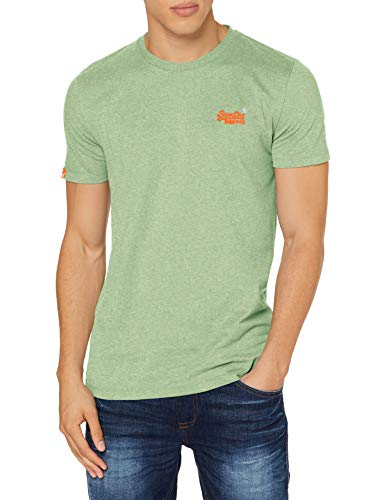 Superdry OL Vintage Embroidery tee Camisa, Verde (Shamrock Green Grit Oq8), XX-Large para Hombre