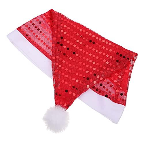 SOIMISS Rojo Lentejuelas Sombreros de Navidad Santa Sombrero Juego de rol Sombreros Navidad Temática para Navidad Año Nuevo Vacaciones Festivas Adultos Fiesta Suministros