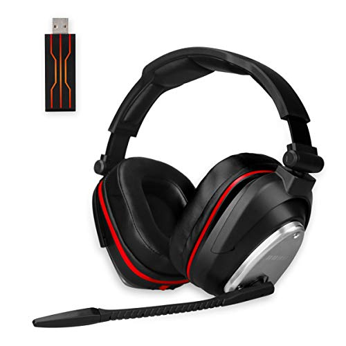 Auricularesn gaming inalámbricos Gaming con Bass 7.1 Surround y Orejeras de metal auriculares con microfono para PS4, Nintendo Switch ,PC