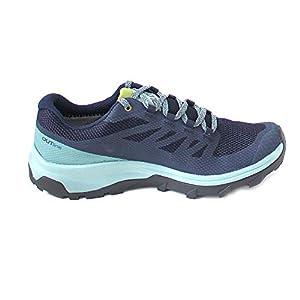 Salomon Women's OUTline GTX W Hiking Shoes, Trellis/Navy Blazer/Guacamole, 8.5