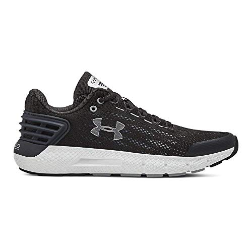 Under Armour Boys' Grade School Charged Rogue Sneaker, Jet Gray (100)/White, 5
