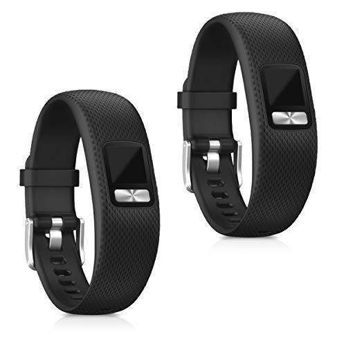 kwmobile Armband kompatibel mit Garmin Vivofit 4-2X Silikon Fitnesstracker Sportarmband