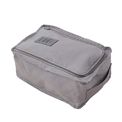 Hellery Staubdicht Schuhbeutel Schuhsack Freizeittasche Koffertasche, 30 x 21 x 11,5 cm - Grau