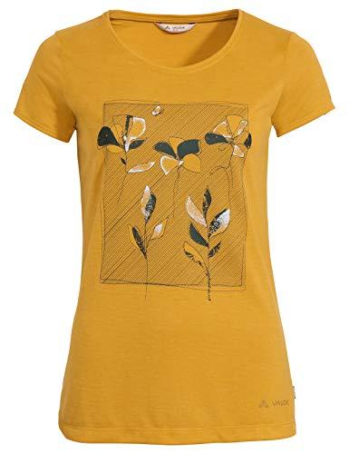 VAUDE Damen T-Shirt Women\'s Skomer Print T-Shirt, Marigold, 40, 41801