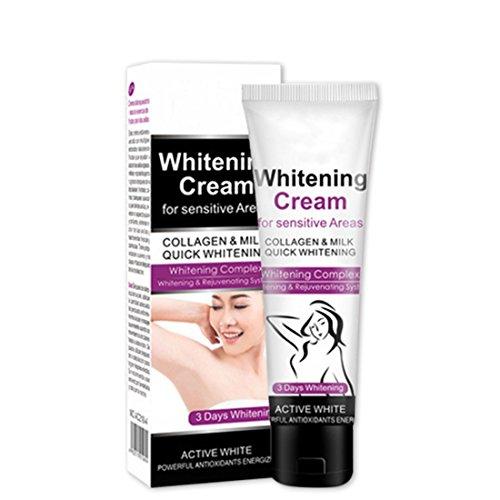 Timagebreze Crema aclarante de la piel blanqueadora de despertamiento de olor antitranspirante desodorante melanina blanqueadora reparacion de axilas 50g
