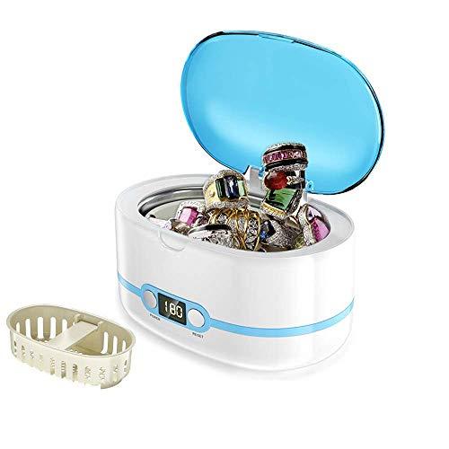 Preisvergleich Produktbild JINHUADAI Schmuck-Reiniger Edelstahlauskleidung mit einem Ultraschallreiniger mit Ultraschall-Mini-Ultraschall-Reinigun... for eine bestimmte Zeit for die Reinigung von Brillen,  Uhren,  Schmuck 600 m