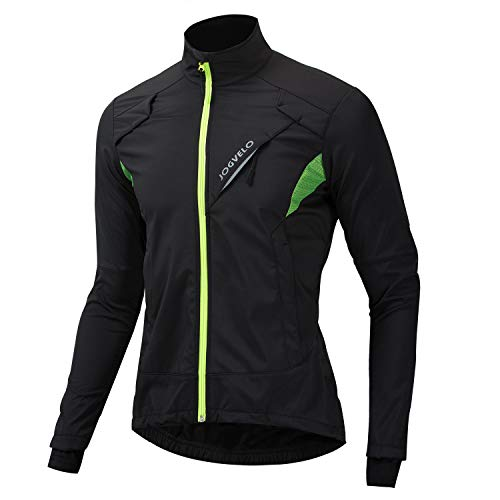 JOGVELO Sport Jacke, Winter Jacket Herren Winddichte wasserdichte MTB Mountainbike Fleece Warm Jacket für Winter, XL