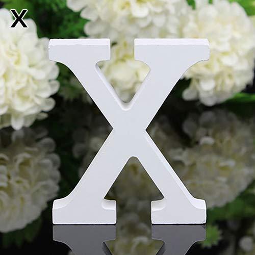 LPxdywlk 27 Englisch Alphabet Ornamente Große Weiße Holz Moderne Buchstaben Wandbehang Dekoration Hochzeitsfeier Geburtstag Tisch Weiß Family Store Dekoration X.