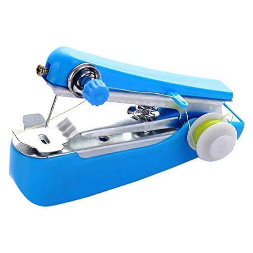 Máquina de coser para principiantes, mini máquina de coser a mano para tejidos mini inalámbrica para coser portátil (color aleatorio)