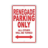 YASMINE HANCOCK Jeep Renegade Parking Only Metall Plaque