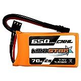 CNHL MiniStar Series Lipo Battery 7.4v 650mAh Lipo 2s 70C (MAX 140C) with XT30U Plug RC Batteries for 3 Mini Quad FPV Quadcopter Drone UAV RC JJPRO
