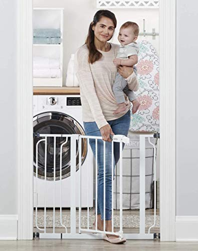 Regalo Easy Step 38.5-Inch Extra Wide Walk Thru Baby Gate, White Original version