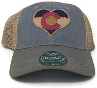 Colorado Flag Heart Trucker Cap