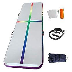 Home U für Gym Training Air Floor Yoga Aufblasbare Sport Matratzen (3x1x0.1m, Bunt-3)