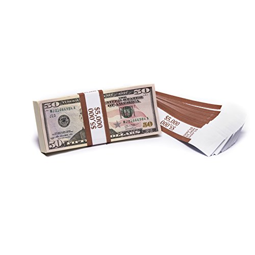Barred ABA $5,000 Currency Band Bundles (500 Bands)