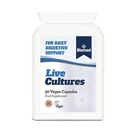 Biomed Daily Digestive Support Supplement | 2 Billion CFU Bacillus coagulans (Lactospore) | Turmeric (Curcumin C3 Complex) and Ginger | One Month Supply | 30 Vegan Capsules