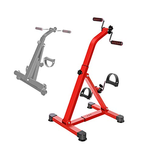 MFLASMF Bicicleta de rehabilitación, Resistencia Ajustable, Oficina en casa, Mini Bicicleta de Pedales, Entrenador de Pedales portátil Superior e Inferior, ejercitador de Brazos y piernas