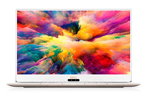 Dell XPS 9370 13.3' Laptop, Intel i7-8550U Processor, 8GB DDR3 SDRAM, 256GB SSD, 13.3 inch 4K UHD InfinityEdge Touchscreen, US QWERTY Keyboard, Rose Gold with white palmrest