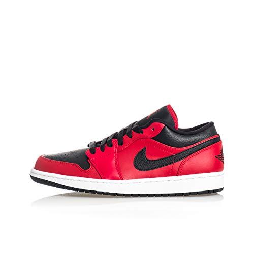 Nike AIR Jordan 1 Low, Chaussure de Basketball Homme, Gym Red Black White, 44 EU