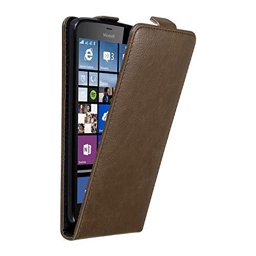 Cadorabo Funda para Nokia Lumia 640 XL in MARRÓN CAFÉ - Cubierta...