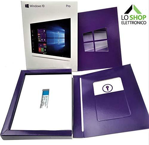 Windows 10 Pro Professional USB 32 e 64 Bit + Key Card con Licenza - Scatola - Attivazione Online - Fatturabile