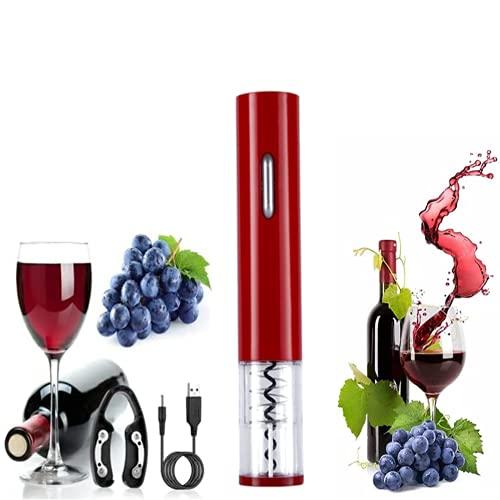 Semplice Ristorante Festa Apri Bottiglia Particolare Cavatappi Per Vino A Batteria Cavatappi Portatile Cavatappi Elettrico Per Vino Professionale (Rosso)