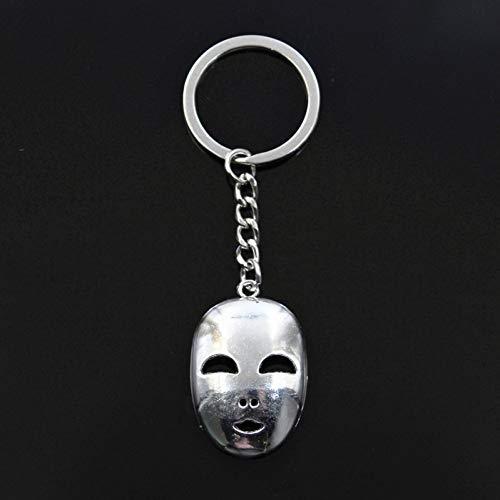 N/ A Mode Schlüsselbund 40X26Mm Party Maske Maskerade Karneval Anhänger DIY Männer Bronze Silber Farbe Auto Kette Ringhalter Geschenk