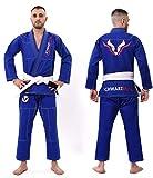 Schwarzbull vitals bjj gi kimono with free white belt light weight preshrunk 100%