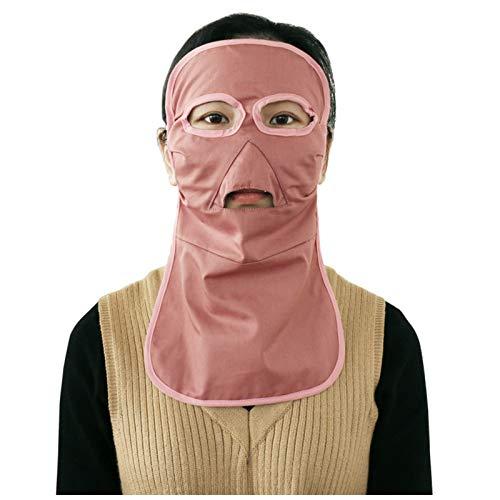 DUAN Máscara Larga de protección contra radiación electromagnética Anti-acné, protección radiológica Teléfono, computadora, TV, blindaje WiFi EMF,Rosado
