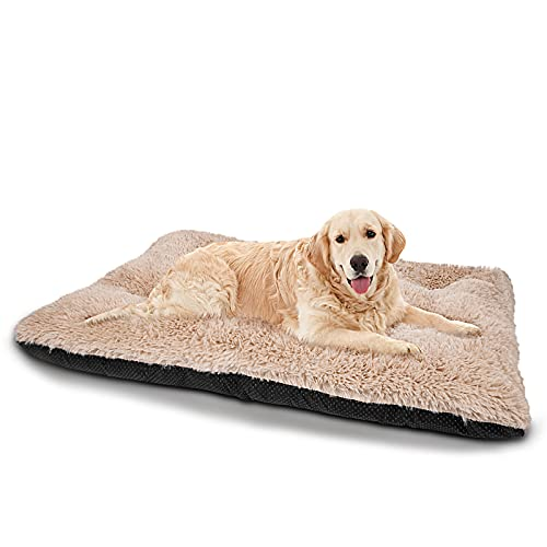 JOEJOY Dog Bed Crate Pad, Ultra Soft Calming Washable Anti-Slip Mattress Kennel...