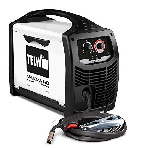 Telwin 816086 Maxima 190 Synergic Saldatrice Inverter a Filo Mig-Mag/Flux/Brazing, 230 V, Maxima 190, Bianco