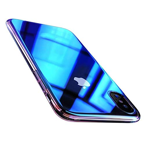 Verco Farbwechsel Hülle für iPhone 6S Plus / 6 Plus, Schutzhülle Handy Cover mit Farbverlauf Slim Case [5,5 Zoll], Blau