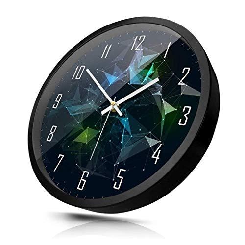 JJZST Moderno Reloj de Pared Simple Cubierta for no Marque Mute Reloj de Pared, Conveniente for el Reloj Creativo Moderno de Oficina, baño, Sala de Estar (Color : Black)