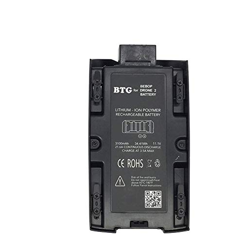 BTG Upgrade Battery 3100mAh 11.1V High Capacity Battery for Parrot Bebop 2 Drone/Bebop 2 FPV Drone