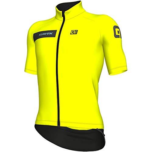 Alé k-Atmo - Maillot de Ciclismo para Hombre, Color Amarillo Fluorescente, tamaño...