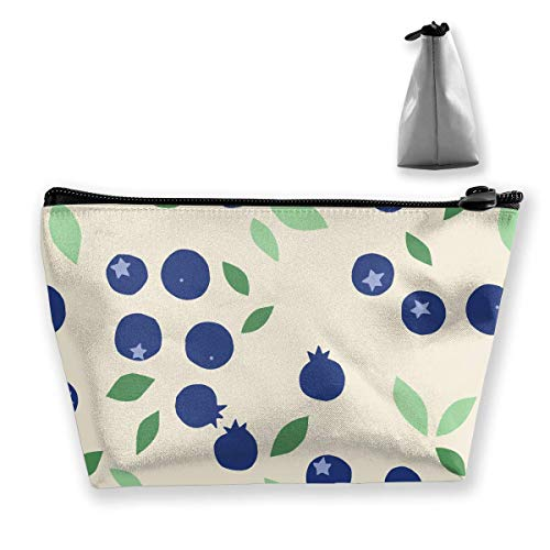 Makeup Bag Trapezoidal Storage Bag Surface Leaves Blue Shape Travel Cosmetic Bag Portable Tolietry Bags